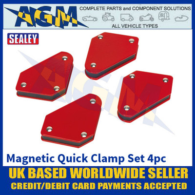 Sealey MQC944 Magnetic Quick Clamp Set 4pc