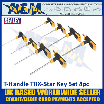 Sealey S01070 T-Handle TRX-Star Key Set 8pc
