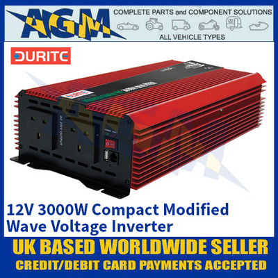 Durite 0-856-40 12V 3000W Compact Modified Wave Inverter