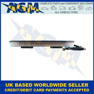LED Autolamps EQBT417R65A-MM,  Amber, LED Mini Lightbar, 12/24V, Magnetic Mount