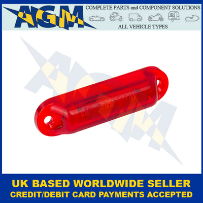 LED Autolamps, 16R24B, Red Rear Marker Lamp, 24v