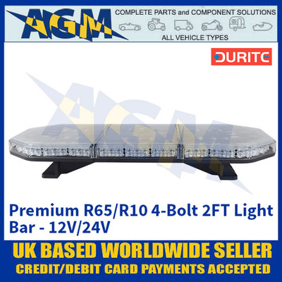Durite 0-443-32 Premium R65/R10 4-Bolt 2FT Light Bar - 12V/24V