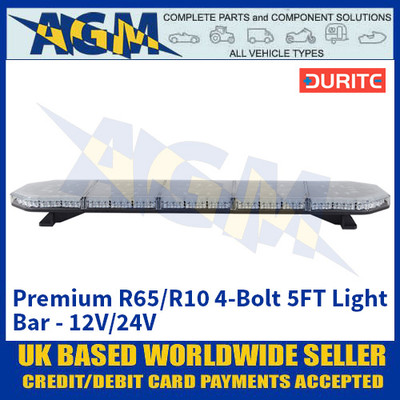 Durite 0-443-33 Premium R65/R10 4-Bolt 5FT Light Bar - 12V/24V