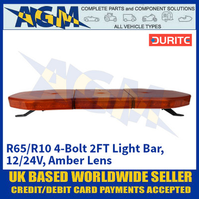 Durite 0-443-48 R65/R10 4-Bolt 2FT Light Bar - 12/24V, Amber Lens