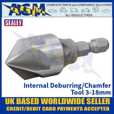 Sealey DB03 Internal Deburring/Chamfer Tool 3-18mm