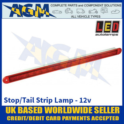 LED Autolamps 380R12E Stop / Tail Strip Lamp - 12v