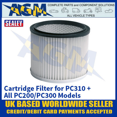 Sealey PC310CF Cartridge Filter for PC310 + PC200 / PC300 Models