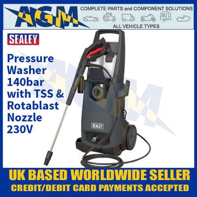 Sealey PW2200 Pressure Washer 140bar with TSS & Rotablast Nozzle 230V
