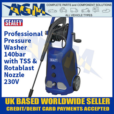 Sealey PW3500 Professional Pressure Washer 140bar with TSS & Rotablast Nozzle 230V