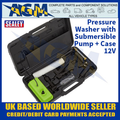 Sealey PW12CC Pressure Washer Submersible Pump In Carry-Case 12V