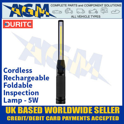 Durite 0-699-72 Cordless Rechargeable Foldable Inspection Lamp - 5W