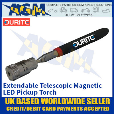 Durite 0-222-30 Extendable Telescopic Magnetic LED Pickup Torch