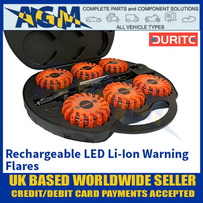 Durite 0-446-60 Rechargeable LED Li-Ion Warning Flares