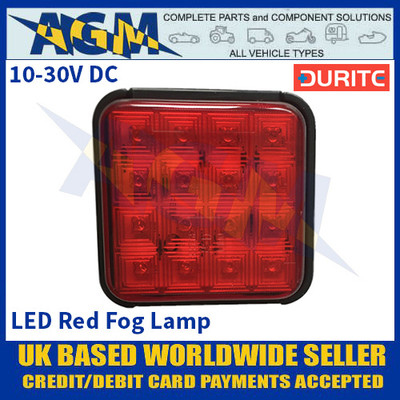 Durite 0-294-32 LED Red Fog Lamp - 10-30VDC