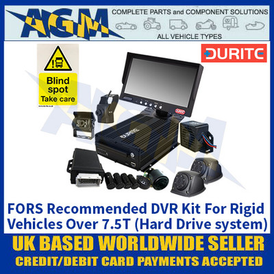 Durite 4-776-52 FORS Recommended DVR Kit For Rigid Vehicles Over 7.5T (Hard Drive system)