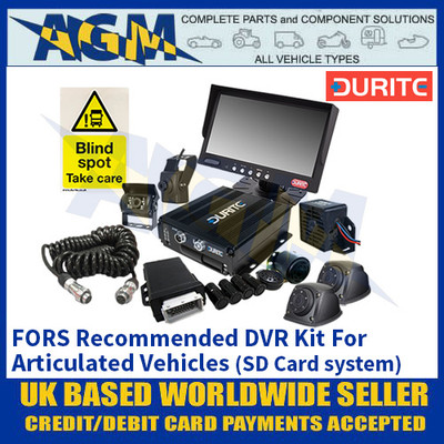 Durite 4-776-53 FORS Recommended DVR Kit For Articulated Vehicles (SD Card system)