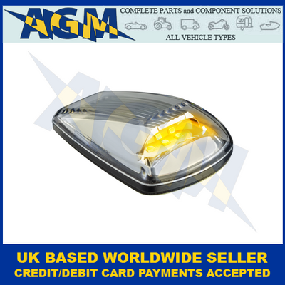LED Autolamps 77ACM, Clear Lens, Compact, Amber, Side Direction Indicator 12/24V