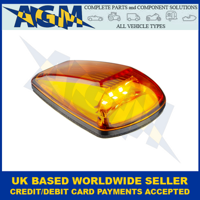 LED Autolamps 77AM, Clear Lens, Compact, Amber, Side Direction Indicator, 12/24V