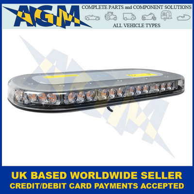 Guardian AMB206, Low Profile, Single-Bolt, R65, LED Light Bar, 12/24V