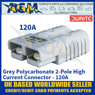Durite 0-431-20 Grey Polycarbonate 2-Pole High Current Connector - 120A