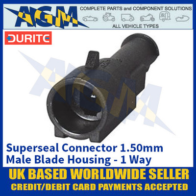 Durite 0-011-51 Superseal 1.50mm Male Blade Housing - 1 Way