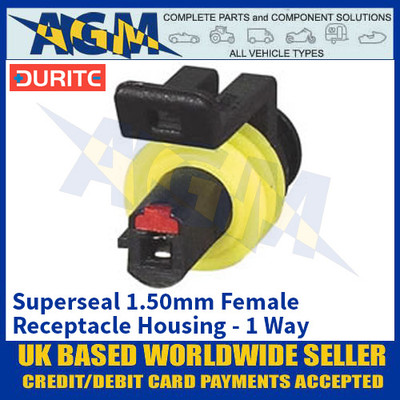 Durite 0-011-61 Superseal 1.50mm Female Receptacle Housing - 1 Way