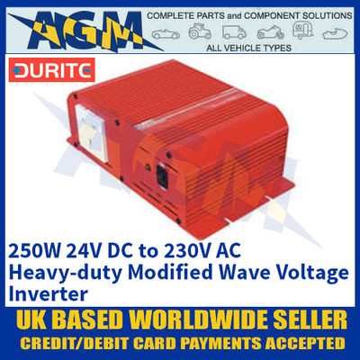 Durite 0-856-52 250W 24V DC to 230V AC Heavy-duty Modified Wave Voltage Inverter