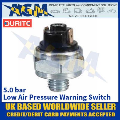 Durite 0-577-20 Low Air Pressure Warning Switch - 5.0 bar