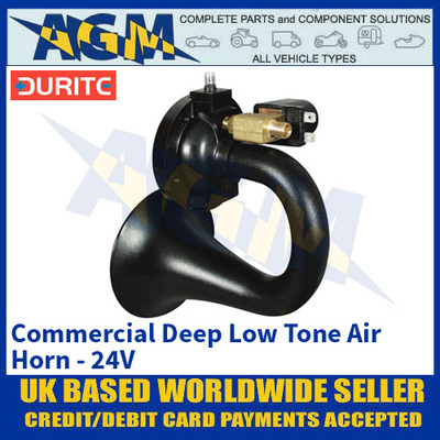 Durite 0-642-70 Commercial Deep Low Tone Air Horn - 24V