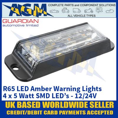 Guardian Automotive LED21A R65 LED Amber Warning Light - 12/24V
