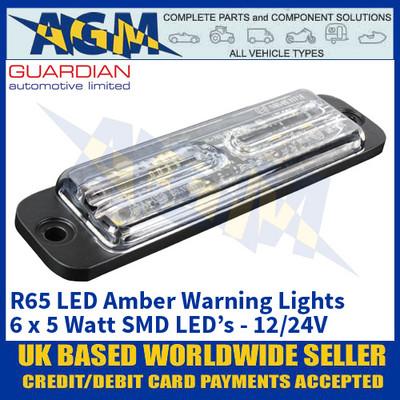 Guardian Automotive LED23A R65 LED Amber Warning Light - 12/24V