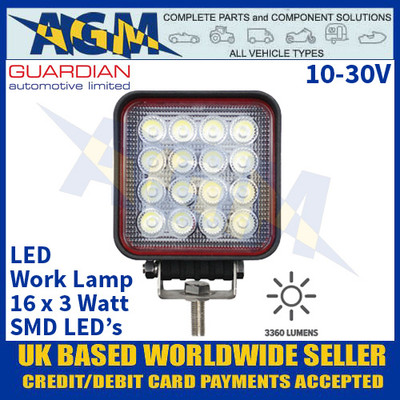 Guardian Automotive WL77 Premium LED Work Lamp - Muti Voltage 10-30V