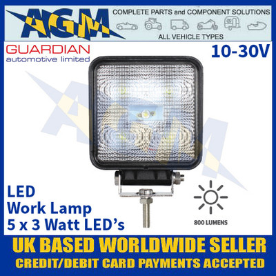 Guardian Automotive WL50 Premium LED Work Lamp - Muti Voltage 10-30V
