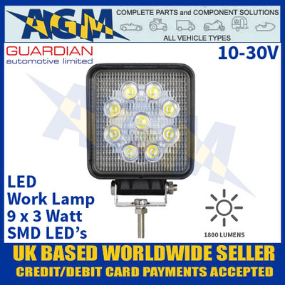 Guardian Automotive WL50HPE Value LED Work Lamp - Muti Voltage 10-30V