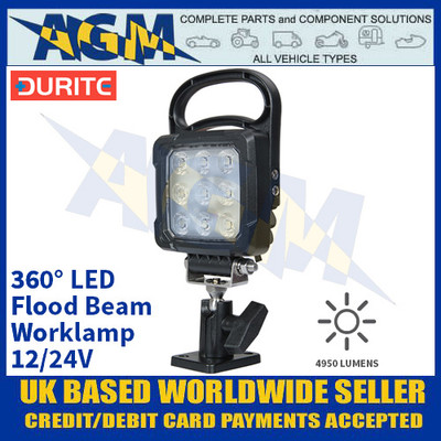Durite 0-420-37 360° LED Flood Beam Worklamp - 12/24V
