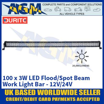 Durite 0-420-94 100 x 3W LED Flood/Spot Beam Work Light Bar - 12V/24V