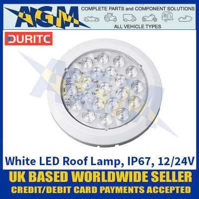 Durite 0-668-06 White LED Roof Lamp - IP67 - 12/24V