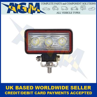LED Autolamps RL8809BM, 12/24 Volt, 9W, Rectangular, Flood Lamp