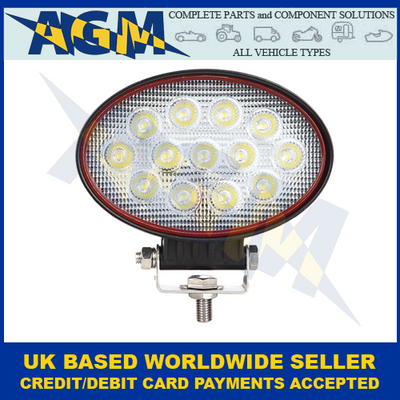 LED Autolamps RL14539BM, 39W, Oval, Flood Lamp, 12/24 Volt