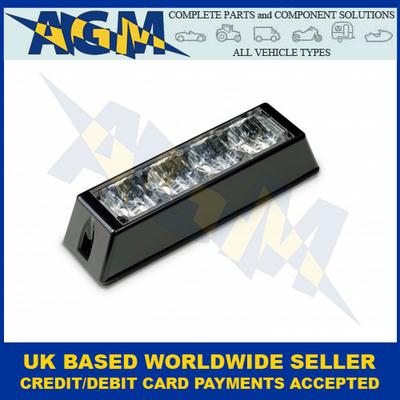 LED Autolamps LED4DVA, Amber, 4-LED, Directional, Warning Lamp, 10-30VDC