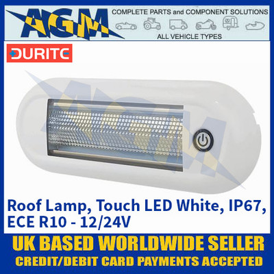 Durite 0-668-88 Roof Lamp, Touch LED White, IP67, ECE R10 - 12/24V