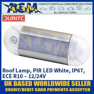 12V White//Red LED Map Reading Lamp Durite 0-669-13