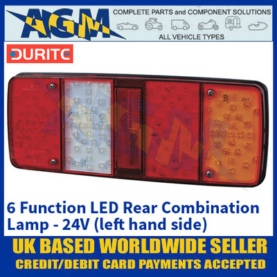 Durite 0-085-50 6 Function LED Rear Combination Lamp, 24V, Left Hand Side