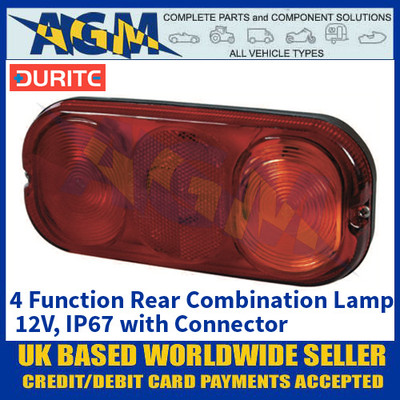 Durite 0-295-50 4 Function LED Rear Combination Lamp, 12V, IP67 with Connector