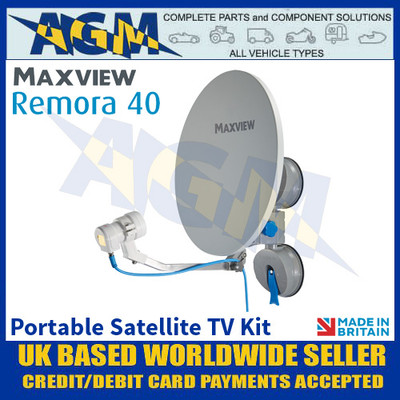 Maxview Remora 40, Portable Satellite TV Kit, Suction Mount