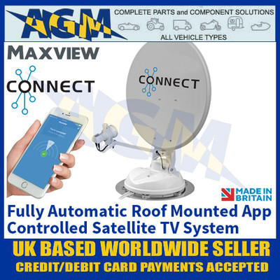 Maxview Connect, Fully Automatic Roof Mounted App Controlled Satellite System