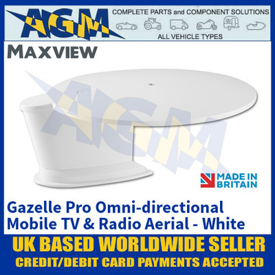 Maxview Gazelle Pro - White, Omni-directional Mobile TV and Radio Aerial