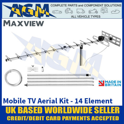 Maxview Mobile TV Aerial Kit - 14 Element