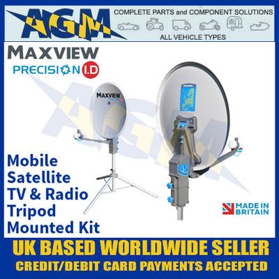 Maxview Precision ID, Portable Tripod Mounted Satellite TV & Radio Kit