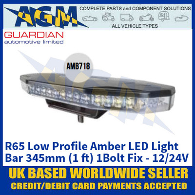 Guardian Automotive AMB718 R65 Low Profile Amber LED Light Bar - 12/24V